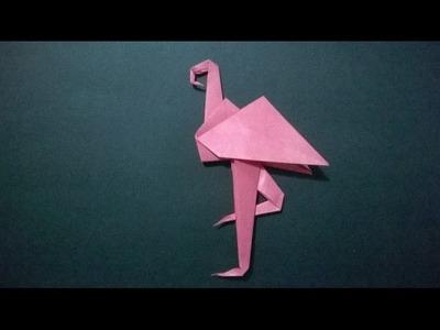 COMO HACER UN FLAMINGO DE PAPEL - How to make a paper flamingo