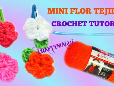 CROCHET: FLOR TEJIDA (TUTORIAL (PASO A PASO) How To Crochet a Mini Flower