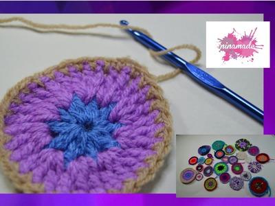 DIY. Como hacer círculos de ganchillo. How to crochet circles.