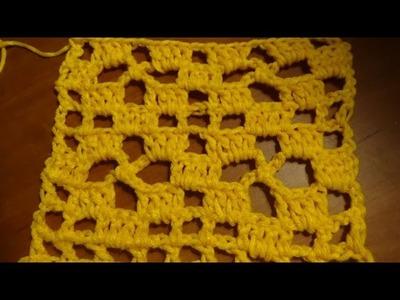 Puntada a crochet muy linda y fácil. Muestra No 26