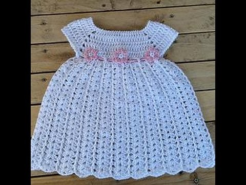 fbdea3cbe Vestido bebe tejido a crochet facil. baby dress crochet easy