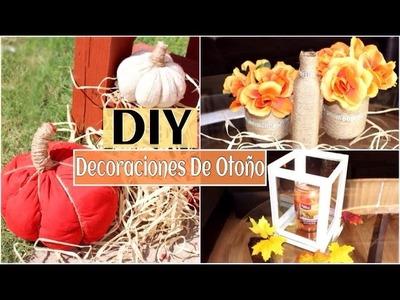 4 DIY- Decoraciones Económicas Para Otoño!