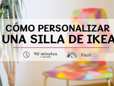 Cómo personalizar una silla de Ikea · Handfie DIY