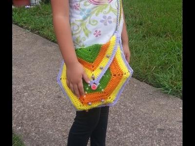 DIY Como tejer una cartera o bolsa de colores para niñas y damas - TUTORIAL