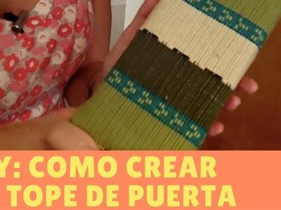 DIY: COMO TRANSFORMAR UN LADRILLO EN UN TOPE DE PUERTA