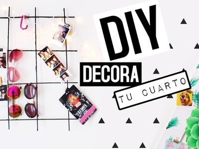 DIY: Decora tu cuarto tumblr!!! Lindo y económico!
