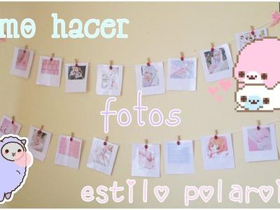 ♥DIY: ¡Haz fotos polaroid! ♡ | Kazumi ʕ•ᴥ•ʔ