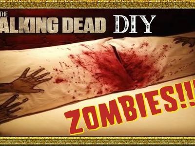 DIY The Walking Dead | ALMOHADA ZOMBIE | Halloween ROOM DECOR ♡