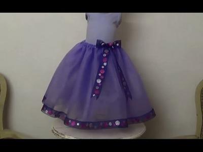 Falda Plisada.  DIY Alta Costura para niños. Clase # 59