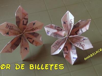FLOR DE BILLETES fácil - Cómo se hace DIY Flower bill