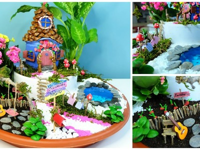 Jardín de Hadas DIY - Casita hada hecha de botella de Coca Cola - Isa ❤️