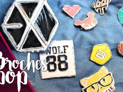 KPOP DIY: Broches Kpop - SUPER FÁCIL   K-freak   EXO - MADTOWN - BIG BANG
