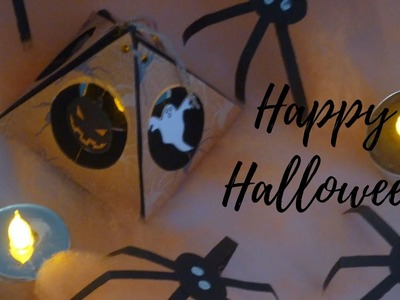 Manualidades para Halloween: Como DECORAR  tu CASA con LÁMPARAS y arañas DIY ♥