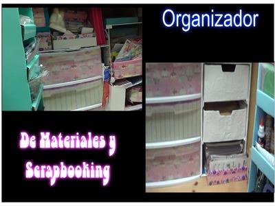 Organizador de materiales y Scrapbooking