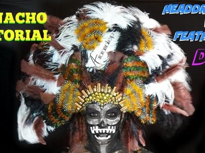 PENACHO tutorial - Headdress w. Feathers DIY | auroramakeup