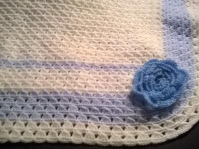 Ajuar para bebés: Mantita bautismal (ganchillo. crochet) - Baby's blanket