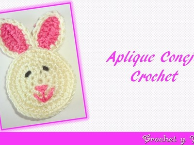 Aplique conejo tejido a crochet