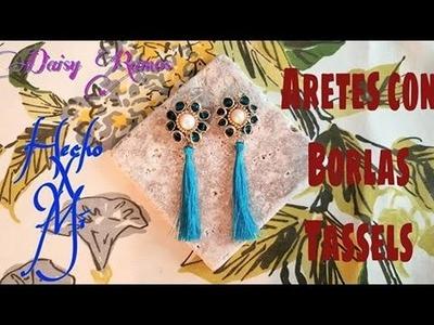 Aretes con Borlas (Tassels) DIY