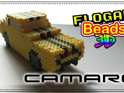 COCHE CAMARO 3D CON HAMA BEADS - HAMA BEADS 3D #3 - DIY - FLOGAR BEADS TUTORIALES