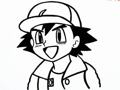Como dibujar a ash | how to draw ash ketchum