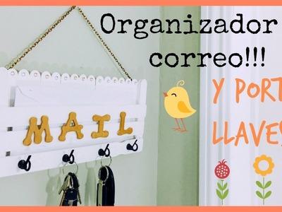 COMO HACER UN ORGANIZADOR DE CORREO Y PORTA LLAVES!|MANUALIDADES CON PALITOS DE HELADO