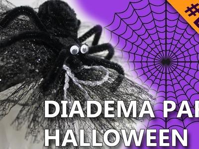 COMO HACER UNA DIADEMA PARA HALLOWEEN | Manualidades halloween 2016