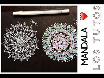 COMO HACER UNA MANDALA - (negra - black) How To Draw A Mandala