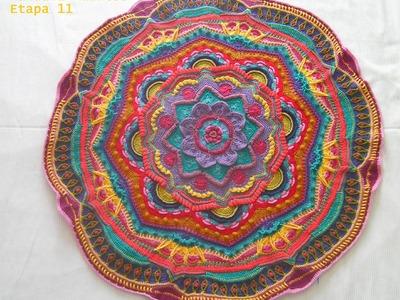 Crochet Mandala MadnessEtapa 11