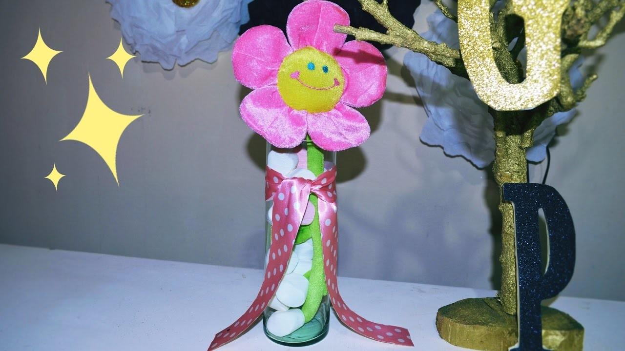 DIY Como hacer un arreglo sencillo con flores de peluche