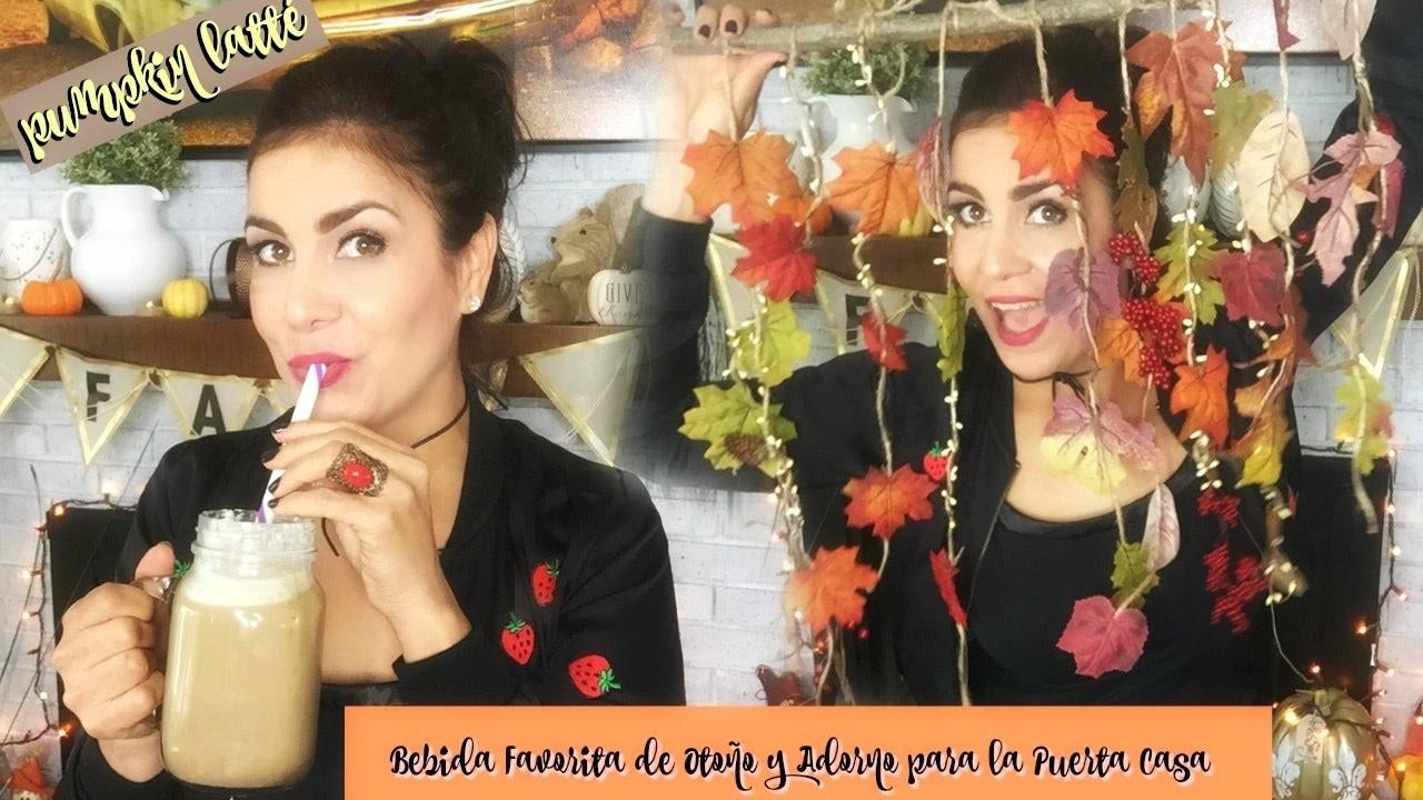 Diy Fall Drink  - Café con Leche de Otoño | Decoración  de mi Puerta ♥
