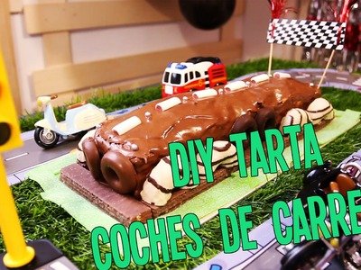 DIY tarta coches de carreras