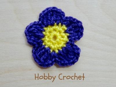 Flor a crochet Nº 2, paso a paso.