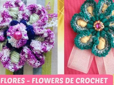 FLORES DE CROCHET ACABADAS - CROCHET FLOWERS