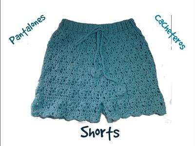 Pantalón, shorts o cacheteros a crochet 2ª parte #tutorial