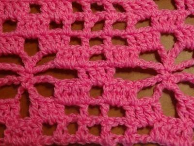 Puntada a crochet fácil y vistosa. Muestra No. 77
