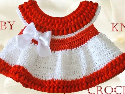 Vestido a crochet para Bebe - Learn Crochet Knit