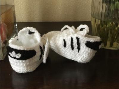 Zapatitos Adidas Para Bebe a Crochet