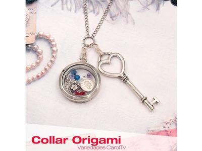 Aprende Cómo hacer un Collar Origami - Materiales en Variedades y Fantasías Carol