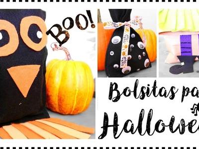 Bolsitas para  Dulces. manualidades faciles para Halloween.By WendyLou