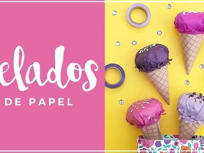 Como hacer un helado de papel diy
