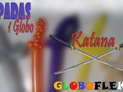 Como hacer una Katana con un GLOBO. How to make a  BALLOON KATANA