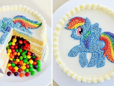 Como hacer una Torta Piñata con Rainbow Dash de Mi Pequeño Pony ✩ Tan Dulce