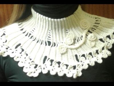 Cuello facil crochet elegante para mujer