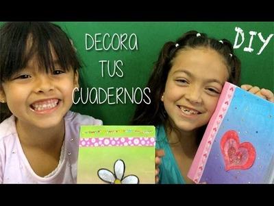Decora tus cuadernos!!! Muy fácil | Decora tus utiles escolares | Manualidades