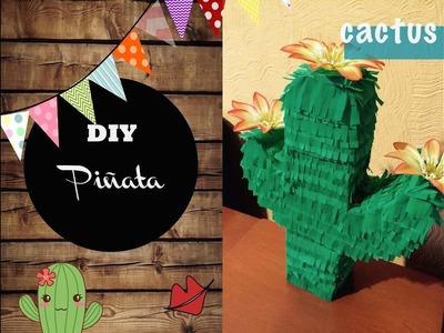 DIY: ¿Cómo hacer una piñata en forma de cactus?