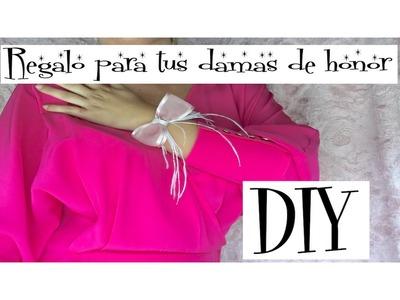 DIY COMO HACER DETALLE PARA DAMAS DE HONOR. AMIGAS DE LA NOVIA. IDEAS BODA.DETALLE PARA INVITADAS