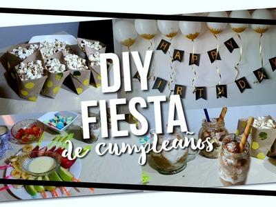 DIY Fiesta De Cumpleaños Snacks & Decor!