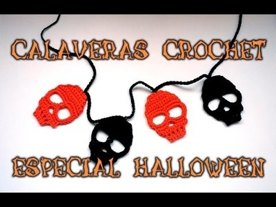 ESPECIAL HALLOWEEN 1: CALAVERAS DE CROCHET PARA DECORAR