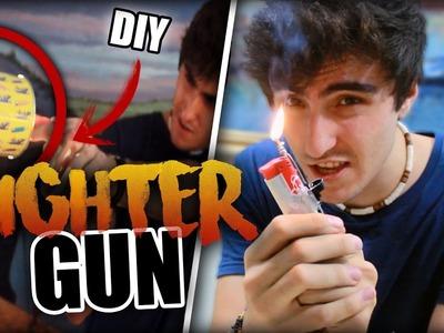 LIGHTER GUN DIY (FIRE TRICKS)