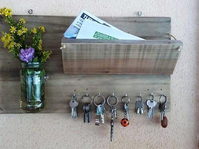 Manualidades con madera reciclada - Portasobres y portallaves -  Tips de felicidad